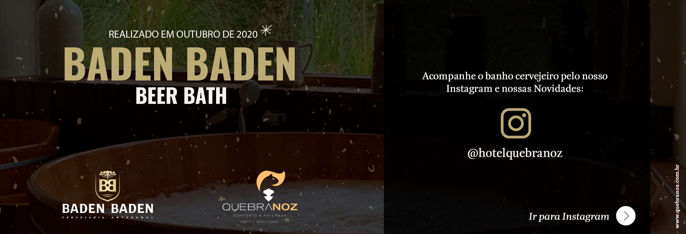 Baden Baden Beer Bath - Outubro de 2020 no Hotel Boutique Quebra-Noz