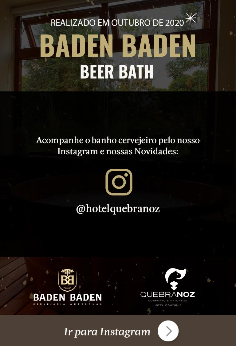 Baden Baden Beer Bath evento outubro de 2020 no hotel boutique quebra-noz