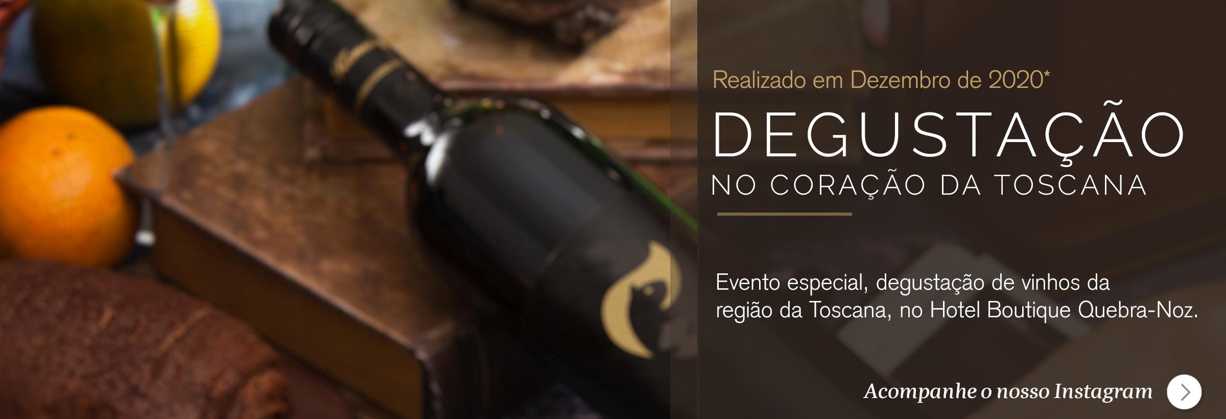 Degustação de vinhos da toscana no hotel boutique quebra-noz
