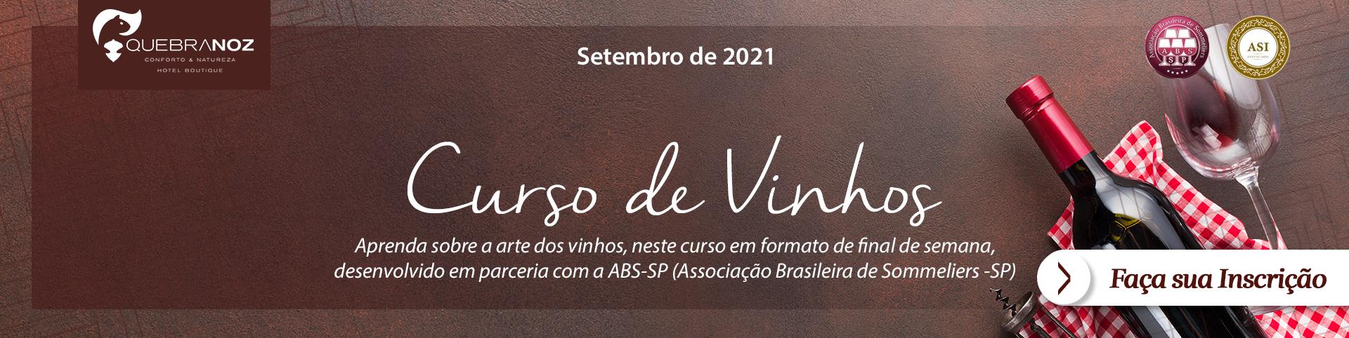 Curso Básico de Vinhos - Hotel Boutique Quebra-Noz